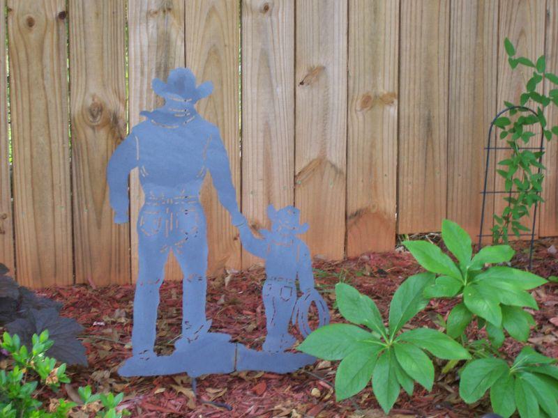 Punched Metal Western Garden Art
