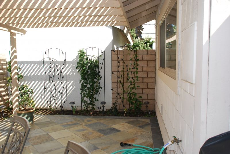 Use trellises to cover a wall