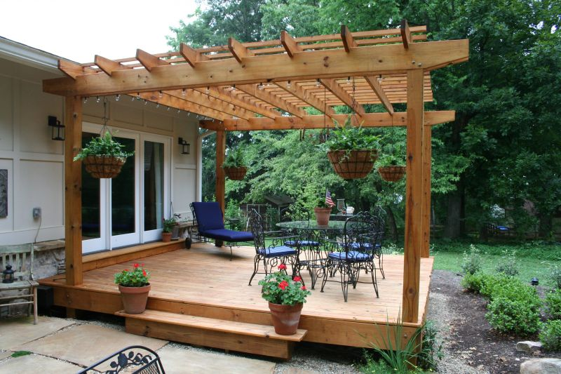 Yard Landscaping Pictures & Ideas: Belleaire Pergola