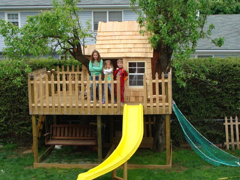 Add a treehouse to your yard for the kids