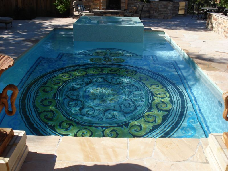 Beautiful Pool Floor Designs Photos - Decorating Design Ideas ...