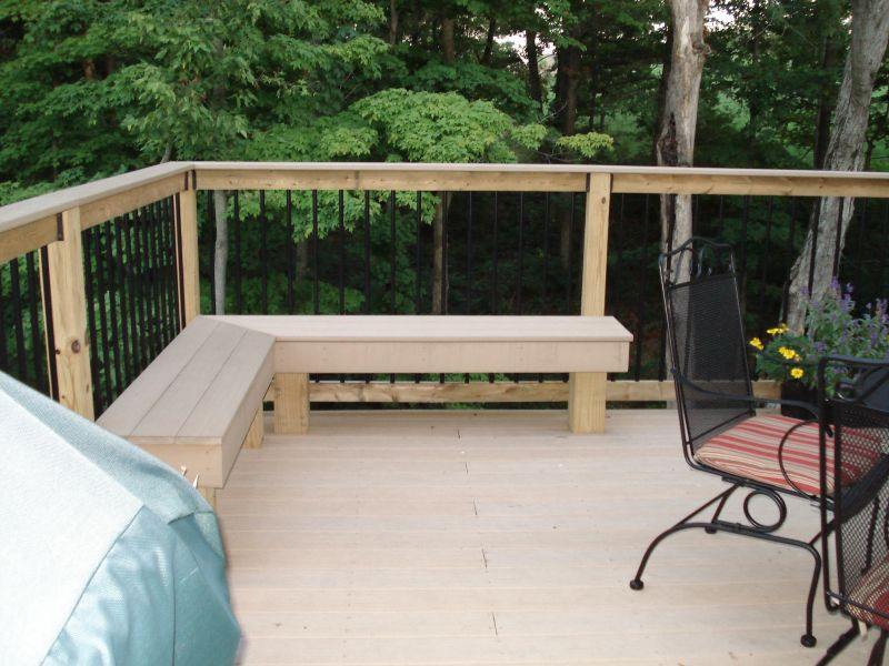 Composite Deck and Seating Area