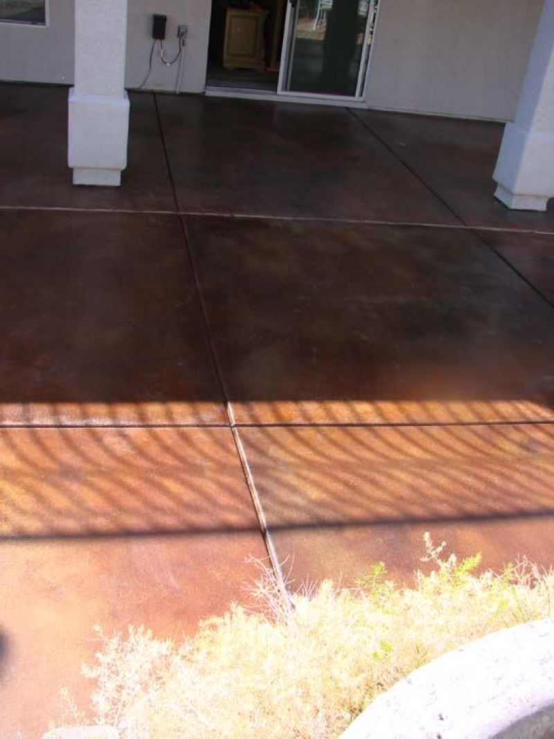 Acid Treated Concrete Patio