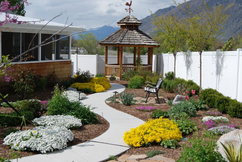 Meandering Garden Path