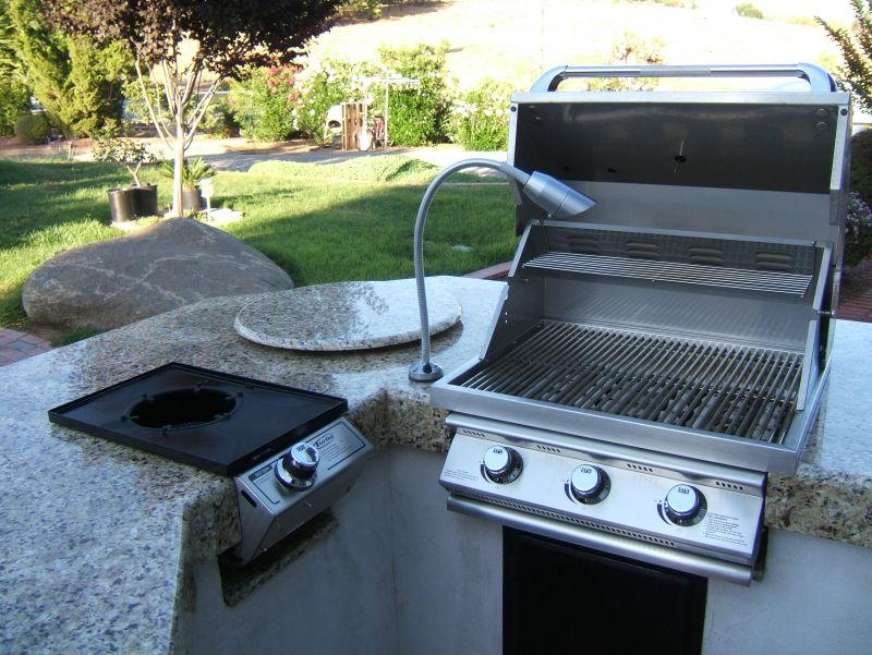 Stove And Grill Outdoor Kitchen Bbq Grill Design Ideas