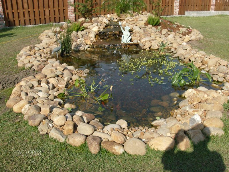 Ideas garden pond design home interior design for Diy garden pond ideas