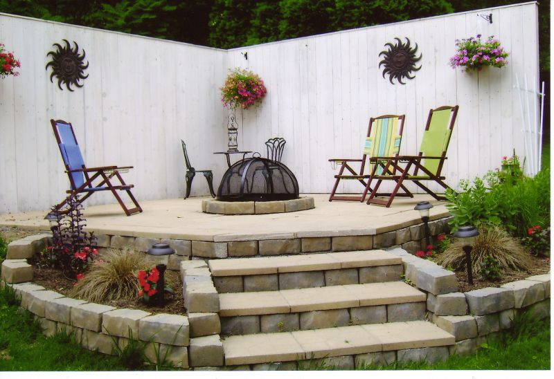 Yard Landscaping Pictures & Ideas: Roxi's Firepit Patio