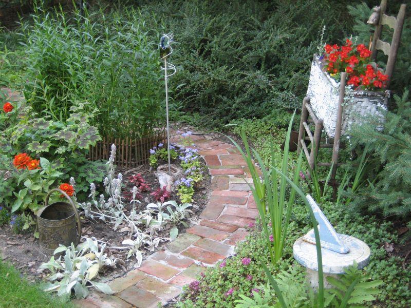 Brick Garden Walkway