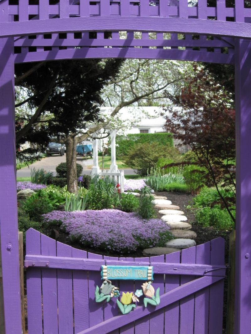 Lavender Gate in a Garden