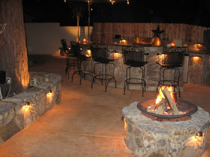 Create your own backyard firepit yard ideas blog for Outdoor kitchen wall ideas