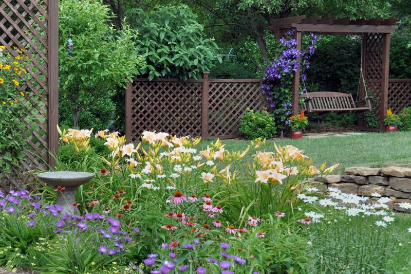 Daylilies are water-wise plants with many different colors