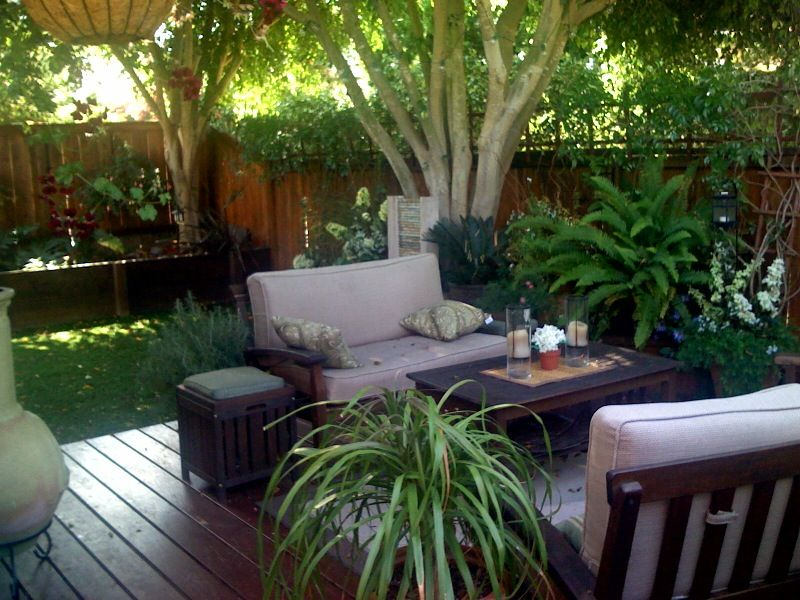 Backyard Deck Ideas For Small Yards : small back yard landscaping ideas garden design ideas front yard
