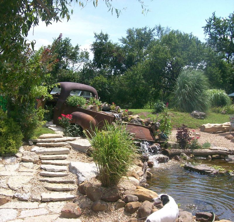 Yard Landscaping Pictures & Ideas: Studebaker Waterfall
