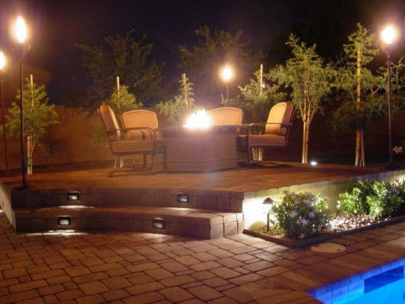 Outdoor Patio Lighting on Stairs
