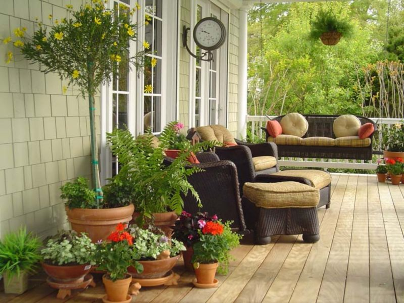The versatile pot yard ideas blog for Decoration veranda