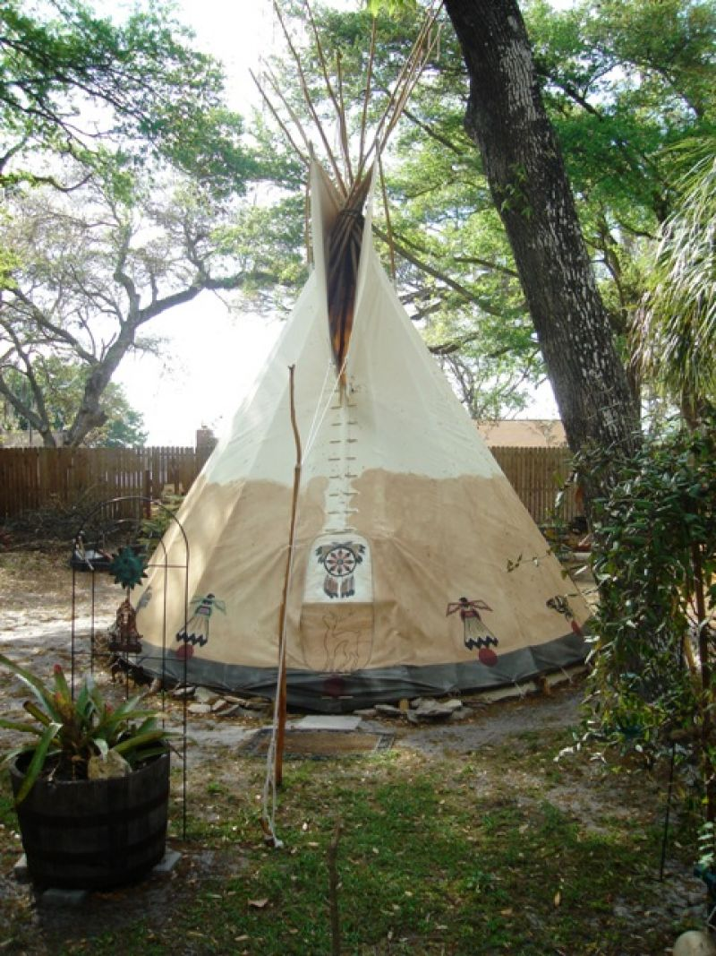 Backyard Teepee